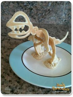 awesome.  dino pancakes! annnnd they're 3d!