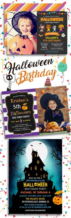 For children who adore Halloween, combining the birthday with Halloween themes is an idea they will love.