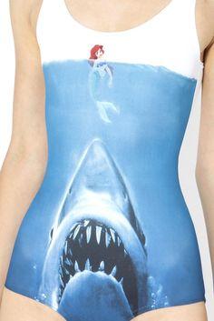Shark vs Mermaid Swimsuit - Black Milk Clothing