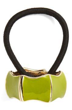 Women's L. Erickson Enamel Cuff Ponytail Holder - Green