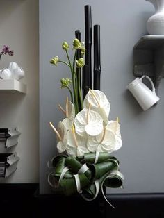 White Anthuriums for Hotel Flowers