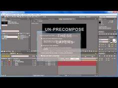 Un-PreCompose Demo - http://aescripts.com/un-precompose