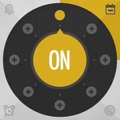 Simple colors, simple use. App Ui Design, Interface Design, Flat Design, Logo Design, User Interface, Graphic Design, Circle Ui, Cooking Icon, Portfolio Examples
