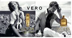 magazine ad GUESS by Marciano FRAGRANCE PARFUM 2-page brochure open and sniff