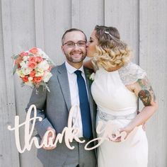 Calligraphy Style Thank You Sign for Wedding - Wedding Decor Gifts