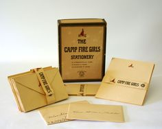 Vintage Campfire Girls Stationery Set Camping by GizmoandHooHa