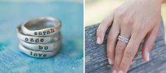 Personalized Stacking Rings with Camille, Stella, Levi