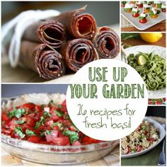 Got too much basil? Use Up Your Garden: 16 Recipes for Fresh Basil