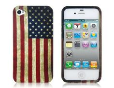 Amazon.com: ETOU American National Flag Pattern Protective Case for iPhone 4/4S: Cell Phones & Accessories
