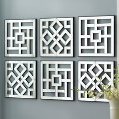 Mirrored wall hanging