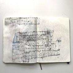 Lari Washburn's sketchbook # Asemic writing