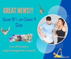 Save 15% on Clean 9 Diet and all Forever's weight management range today! This great offer is time-limited, so don't delay. Simply click the embedded Facebook link and then scroll down to find the Facebook post with the same picture as you see here. There you'll find the special link to access your fab 15% discount. Yay!!!