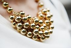 (83) Fancy - Gold Ball Necklace