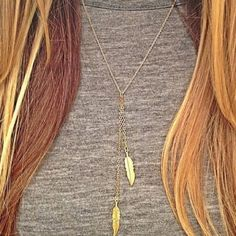 Cute Twin Leaves Gold Plated Necklace Brand New - Orders will be shipped the same business day. Jewelry Necklaces