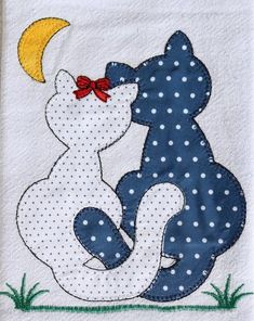 Applique Quilt Patterns, Applique Embroidery Designs, Machine Embroidery Applique, Baby Applique, Patch Quilt, Quilt Blocks, Fabric Crafts, Sewing Crafts, Sewing Projects