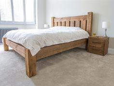 e6b5fefaae Darcy reclaimed wooden bed with footboard #eatsleeplive #rustic #bedroom Rustic  Wooden Bed,. Eat Sleep Live