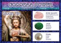 Goddess Power: Quan Yin! Spiritual Figures, Spiritual Images, Magick Book, Witchcraft, Minerals And Gemstones, Spirit Guides, Book Of Shadows, Gods And Goddesses, Wicca