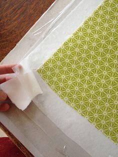 book cloth tutorial by Sarah Bryant