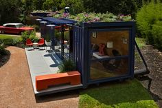 Originally seen on Dwell Magazine this 40′ by 8′ container was converted into a lush 320 square foot home. Compact and yet luxurious. It was done with the help of Jim Poteet, a Texas architect. According to Dwell, Stacey Hill wanted it made for the artist community she lives in.