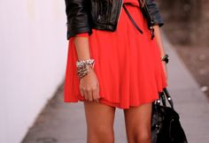 Black and coral.
