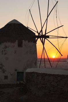 Sunset windmill, Mykonos, Greece