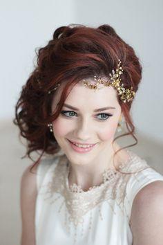 Coiffe de mariée vigne de cheveux de mariée parure de tête