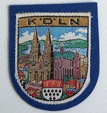 VINTAGE KOLN GERMANY EMBROIDERED SOUVENIR PATCH WOVEN CLOTH SEW-ON BADGE