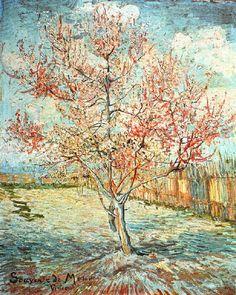 Vincent Van Gogh - Post Impressionism - Arles - Pêchers en Fleurs, Souvenir de Mauve - 1888