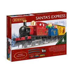 Buy Hornby Santa's Express Christmas Train Set at Mighty Ape NZ. The ultimate Christmas decoration, track fits under your tree! Santa's special train includes his very own steam engine, a wagon full of presents and. Christmas Train Set, Great Christmas Gifts, Christmas 2017, Christmas Tree, Santa Express, Thing 1, Play Based Learning, Santa Sleigh, Imaginative Play