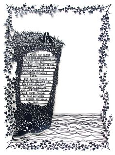 Hand-cut paper Reads: 'I opened my heart to the wind and felt it wrap its arms around me and hold me all day long. I opened my heart to the sea and it carried me and washed around me comforti… Cut Canvas, Canvas Paper, Paper Art, Paper Crafts, Paper Cutting, Cut Paper, Jolly Christmas Postman, Rob Ryan, Tunnel Book