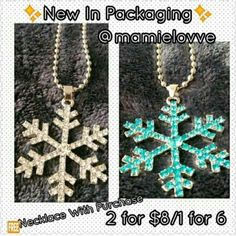 $8 Snowflake NECKLACEs Christmas special Jewelry Necklaces