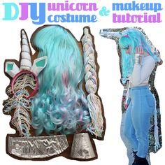 DIY Unicorn Costume & Makeup Tutorial!