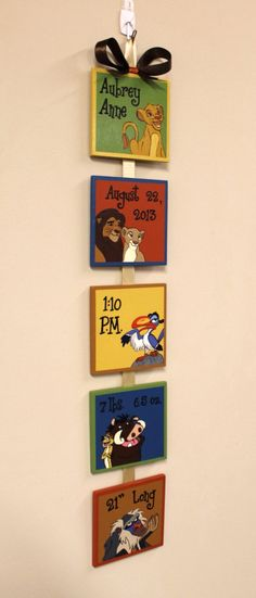 Lion+King+Custom+Birth+Announcement+hand+by+SimplySignsByJess,+$50.00