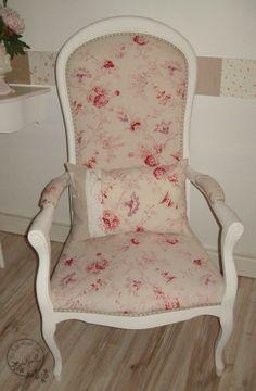 voltaire lin et pois avec monogramme relooker des meubles pinterest. Black Bedroom Furniture Sets. Home Design Ideas