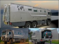 Action Mobil adds car carrying Atacama motorhome to its RV lineup (Photos) Overland Truck, Expedition Vehicle, Camper Caravan, Truck Camper, Rv Campers, Kombi Motorhome, Materiel Camping, Off Road Camping, Adventure Campers