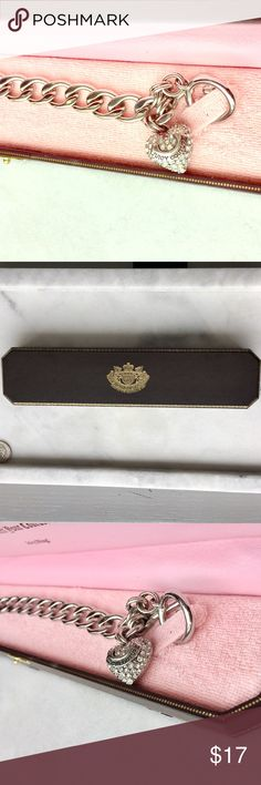 NIB Juicy Couture Silver Pave Charm Bracelet New in box! Gorgeous. Juicy Couture Jewelry Bracelets