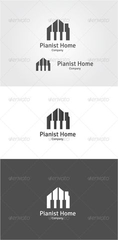 Pianist Home - Logo Design Template Vector #logotype Download it here: http://graphicriver.net/item/pianist-home/6485631?s_rank=260?ref=nexion