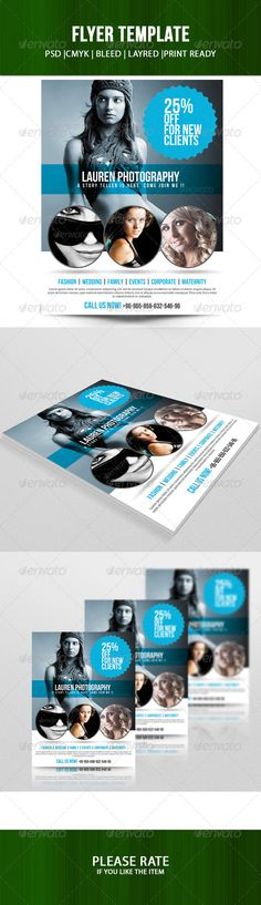 Construction Flyers Templates \ Design Examples Graphic - azure flyer template