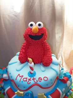 Elmo cakes for Wesley's 2nd birthday party!