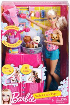 Barbie Suds & Hugs Pups Playset - Free Shipping