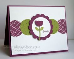 Julie's Stamping Spot -- Stampin' Up! Project Ideas Posted Daily: Stampin' Up! Mitten Builder Punch Flower Card