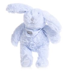 Absorba blue soft artificial fur bunny rabbit soft toy with a branded neckerchief attached. <ul> <li>Machine wash at 30*C</li> <li>Toy full length: 20cm</li> </ul>