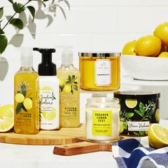 When life hands you lemons . you create the cutest yellow Easter decor! Bath N Body Works, Bath And Body, Sugar Cleanse, Cosmetic Photography, Room Diffuser, Lemon Kitchen, Best Fragrances, Easter Decor, Smell Good