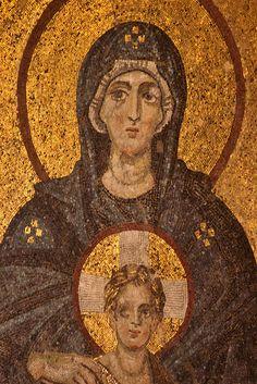 Istanbul: Hagia Sophia - Virgin and Child mosaic Religious Icons, Religious Art, Calming Images, Byzantine Art, Hagia Sophia, Art Icon, Medieval Art, Orthodox Icons, Sacred Art