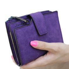 패션 작은 여성 지갑 짧은 지갑 레이디 편지 스냅 패스너 지퍼 짧은 클러치 지갑 솔리드 빈티지 매트 여성 지갑