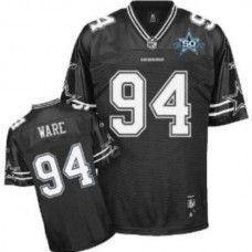 df66ae52ebb Cowboys #94 DeMarcus Ware Black Shadow Team 50TH Patch Stitched NFL Jersey  Cowboys 88,