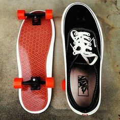 I thought this was a pair of vans with a little skateboard on the bottom. That would've been amazing.