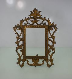 Antique Gilt Cast Iron Ornate Picture Frame  by oldetymestore, $38.00