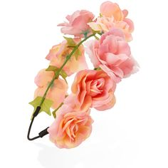 FOREVER 21 Enchanted Flower Crown Headband ($5.80) ❤ liked on Polyvore featuring accessories, hair accessories, flower crown, headbands, forever 21, floral crown, head wrap hair accessories and headband hair accessories