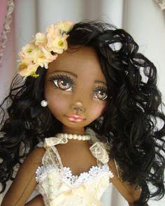 Bonecas negras de pano Soraia Flores